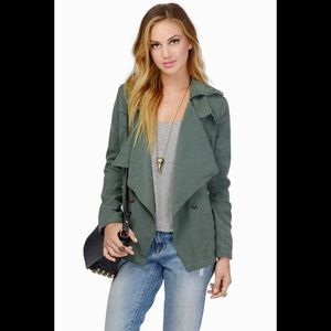 Green jacket with lining